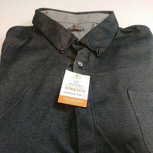 NWT Van Heusen Mens Traveler LS Knit Shirt XXL